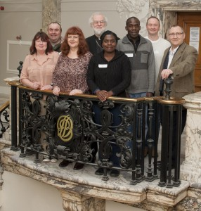 Open Book students meet former Archbishop of Canterbury Dr Rowan Williams. Pic: courtesy of Goldsmiths