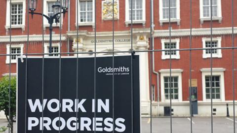 Richard Hoggart Building at Goldsmiths College. Pic: Charles Farquharson