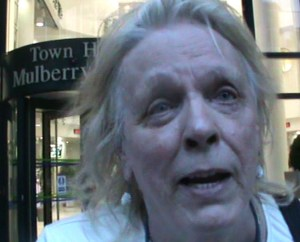 Picture of John Wright outside the Mulberry Place Town Hall in Tower Hamlets. Photo: © Muhammad Haque.