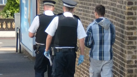 Police across London raided homes in a crackdown on low-level criminality Photo: Bill Konos
