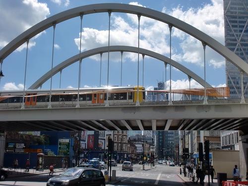 Shoreditch Village will be built next to the viaduct on Shoreditch High Street Photo: Bill Konos