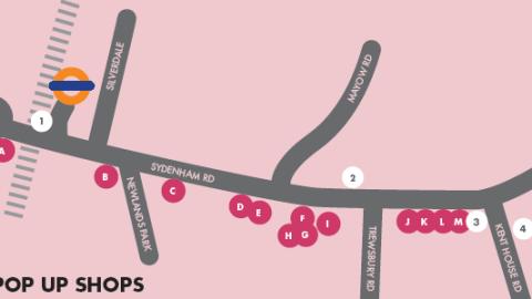 sydenham pop up shop trail map
