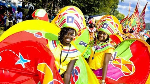 Spectacular costumes and hypnotic dancers at the Hackney One Carnival. Photo: The Vortex Jazz Club.
