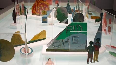 The Little General (Pinball Machine), 1967–8 by Öyvind Fahlström. Photo: Raven Row.