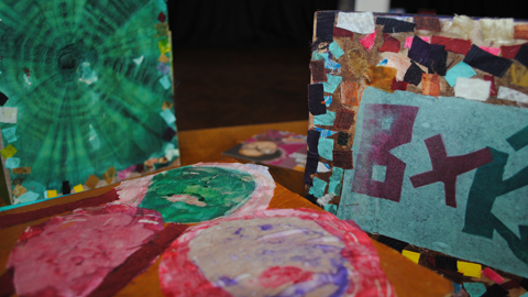 Examples of artwork produced by the students of the Centre. Pic: Rosetta Arts Centre