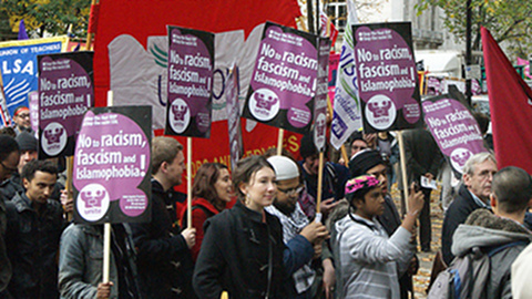 An anti-fascist demonstration. Pic: Koos Couvee