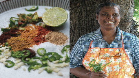 Cooking the very hot Shri Lankan fish curry! Pic: Helena Smith