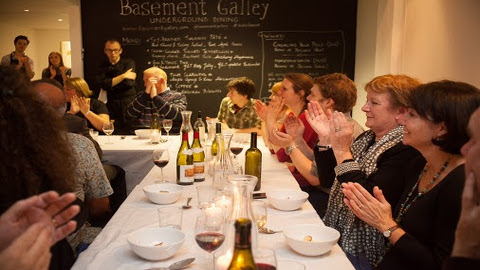 Opening night of Catford Canteen at the Basement Gallery. Pic: Sara Libowitz