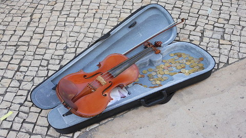 Buskers under threat. Pic: Michael Coghlan