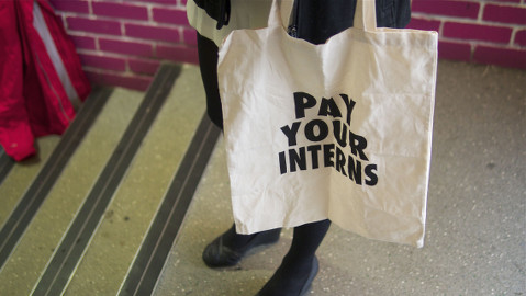 Young people fighting for paid internships at Goldsmiths College Student Union yesterday. Pic: Kamal Badhey