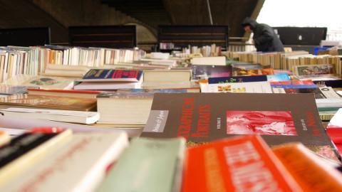 Secondhand book fair. Pic: Shaun