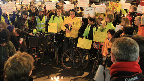 Cyclist Protest. Pic: Andreas Kambanis