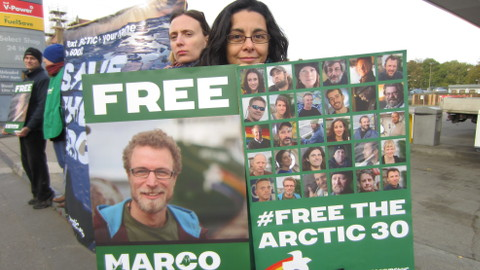 Deptford activists supporting the Arctic 30. Pic: Chiara Rimella