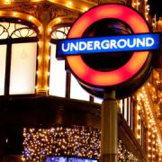 Underground sign at Christmas Pic: Marcel Oosterwijk