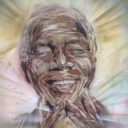 Mandela street art in Brick Lane Pic: Dan McCarthy