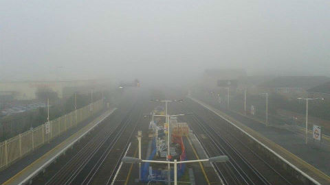 Fog over New Cross station Pic: Kitty Knowles