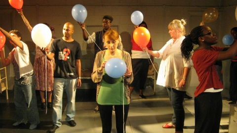 Lewisham Youth Theatre capturing memories of Catford Pic: Helen Stanley
