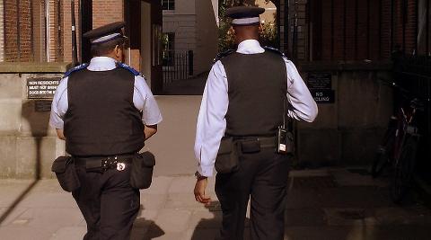 Police Officers Pic: J D Mack