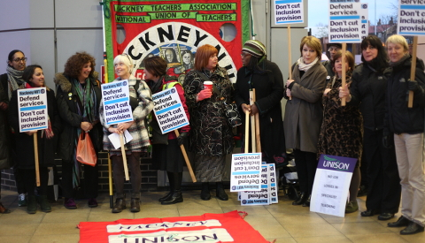 They are aggrieved at budget cuts Pic: Rachael Pells