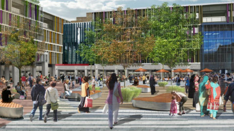 Artists impression northwards looking towards civic square Pic: Tower Hamlets Council