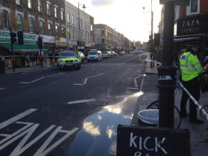 Stoke Newington high street closed due to accident. Pic: Tom Bateman