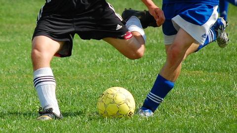 Footballers. Pic: Jarret Callahan