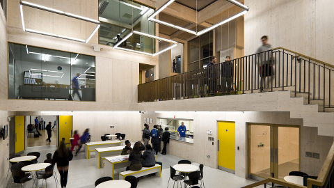 Inside the New Generation Youth and Community Centre. Pic: Jakob Spriestersbach.