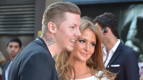 Professor Green admits drink-driving after jumping into car to protect wife who fled when robbers stole £40,000 Rolex on his doorstep. Pic: Brian Barnard
