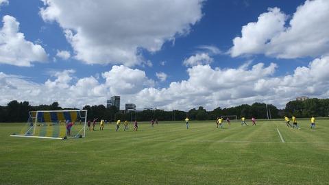 Football on Hackney Marsh Pic: Ian Roberts