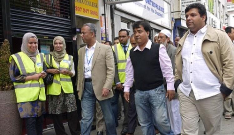 Lutfur Rahman in Whitechapel Pic: Alan Denney