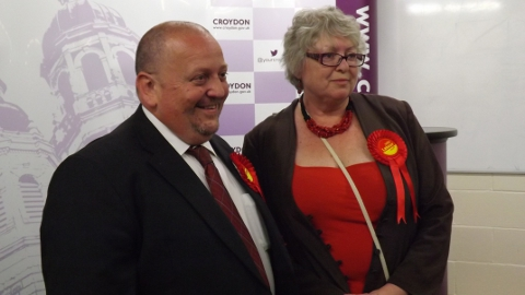 Carole Bonner and Simon Hall re-election for Fieldway Ward Labour Photo Sheila Smith