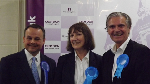 Held by Conservatives - Kenly Ward. Steve Hollands, Jan Buttinger and Steve O'Connell Photo: Sheila Smith