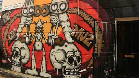 Graffiti in East London Pic Kyla Borg