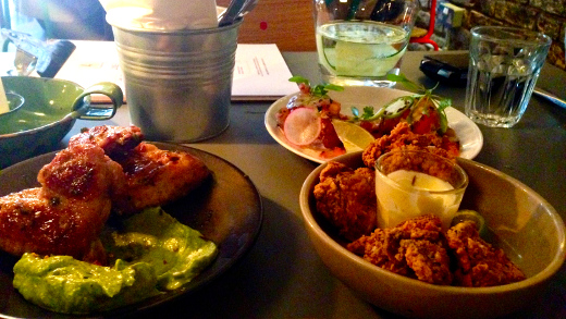 From beef rib tacos to jalapeño & oregano glazed chicken wings, the menu has many options. Photo: Paula Donnelly