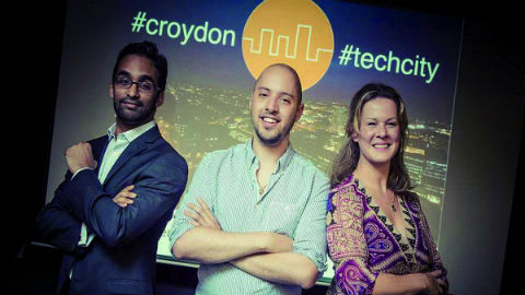 Croydon Tech City Team: Nigel Dias, Sarah Luxford and Jonny Rose.Pic: Fluid4Sight Photography