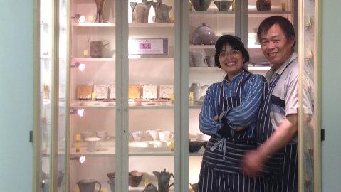 Siu Kwan Wang with husband. Photo: Chu Kuan Yuan