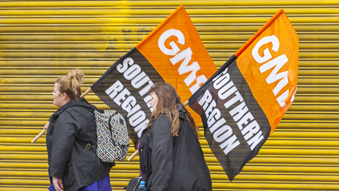 GMB supporters in Lewisham Pic Niall Sargent