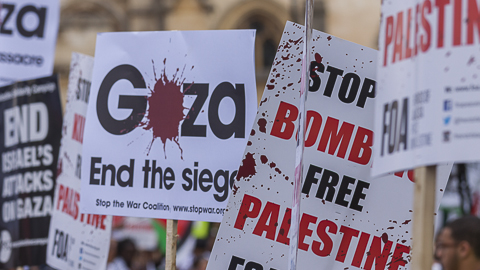 Gaza Protest July 26 Pic: Niall Sargent