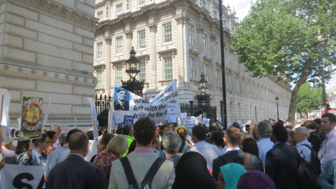 6. Rally outside Downing Street