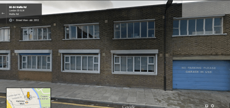 Hackney Wick Rapist Studio Pic- Google Maps Street View