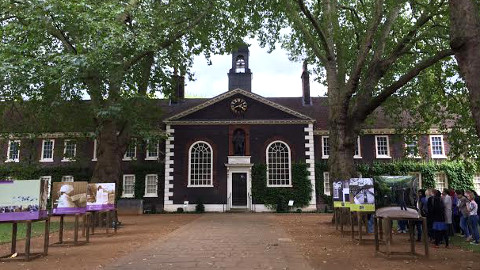 The elegant 18th Century building housing The Geffrye Museum