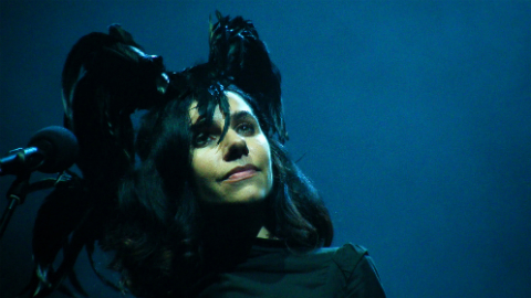 Musical legend PJ Harvey received her accolade at Goldsmiths today Pic: Man Alive!
