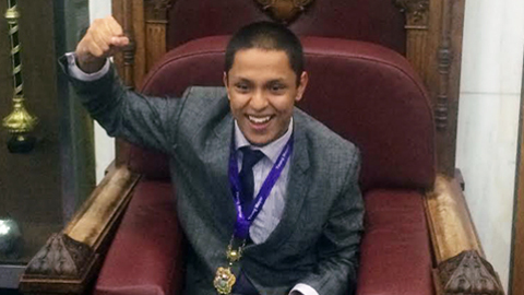 Liam Islam, 14, was elected Young Mayor of Lewisham last night. Pic: Jamie Wright