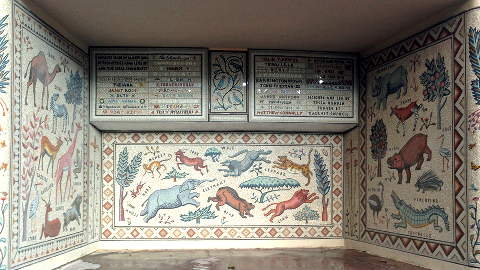 large Mosaic in the Downs. Pic: Hackney Mosaic Project