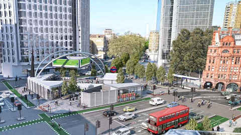 How Old Street could look in the 2020s. Pic: TfL