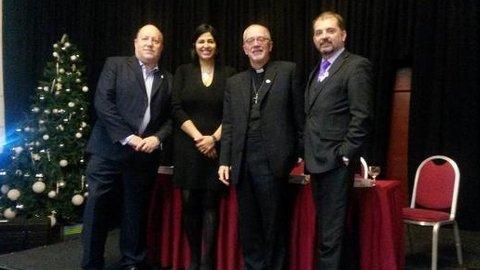 From left to right: Councillor Tony Newman, Labour councillor Hamida Ali, Bishop Jonathan Clark and councillor Mark Watson. Pic: Councillor Tony Newman