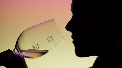 Person drinking wine. Pic: Roland Peschetz
