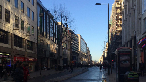 A rare sight - an almost empty Oxford Street - tweeted by @EdCJ_Francis.
