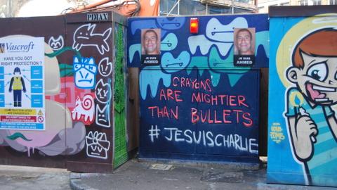 Graffiti by Pure Evil on Holywell Lane. Pic: Muna Fadhil