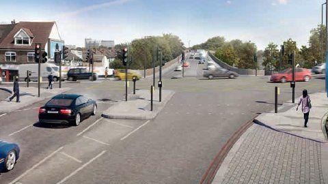 Roads in Croydon. Pic:TF